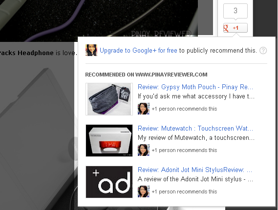 Google Plus now shows Recommended Posts on their button