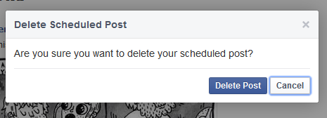 Delete scheduled post