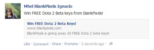 Free Dota 2 beta keys giveaway sample entry