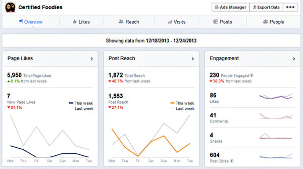New Facebook Page Insights