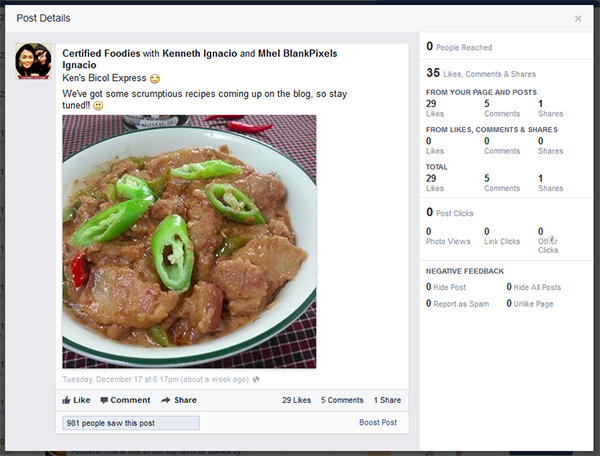 Quickly view details on reach for each post