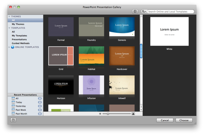 Microsoft Powerpoint templates